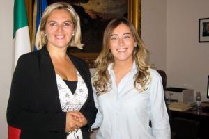 Treffen mit Ministerin Boschi